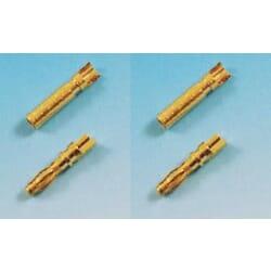 Conector Oro 2 mm 2 juegos Macho /Hembra