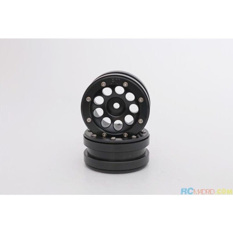 Llanta aluminio Beadlock 1.9 Negra Ecohole