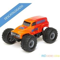 1/28 Micro Ruckus 2WD Monster Truck RTR, Naranja
