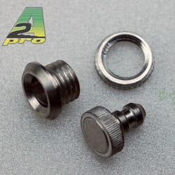 Tapon de Aluminio + soporte de llenado