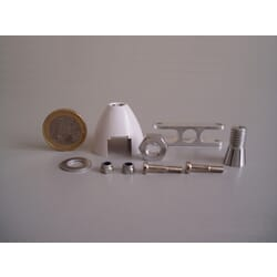 Cono Autoventilado Helice plegable 30 mm ø / eje 2.3 mm