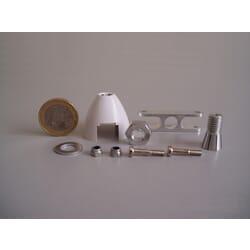 Cono Autoventilado Helice plegable 40 mm ø / eje 3.2 mm