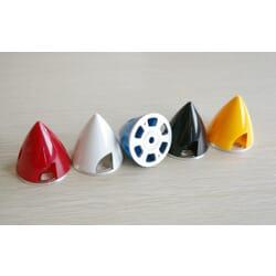 Cono de plastico de 38 mm, base aluminio Rojo