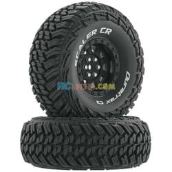 """Rueda Scaler CR C3 montada 1.9"""" Crawler Negro (2)"""