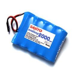 Pack Bateria Eneloop 2000 mAh AA 6 V Rx Futaba