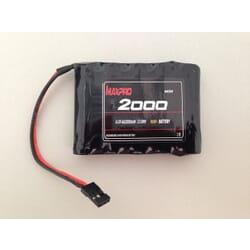 Pack Maxcell Ni-Mh 6.0V 2000 mAh plana con. futaba