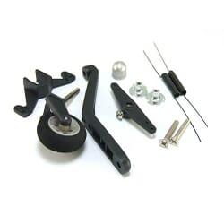 Patin cola rueda 32 mm con direccion 0.40 ~0.90
