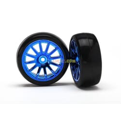12-Sp Blue Wheels Slick Tires Tires & W TRX7573R