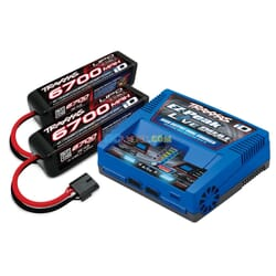 Battery/Charger Completer Pack (Includes 2973 Dual Id Charger (1) 2890X 6700Mah 14.8V 4-Cell 25C Lipo Battery (2))
