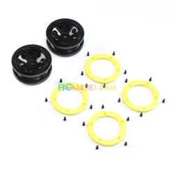 FR/RR Wheel with Beadlock Black/Yellow Temper G2