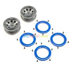FR/RR Wheel with Beadlock Gray/Blue Temper G2