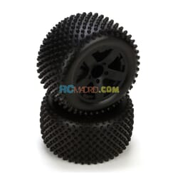 Circuit Tire Premount Rear Black Wheel (2)