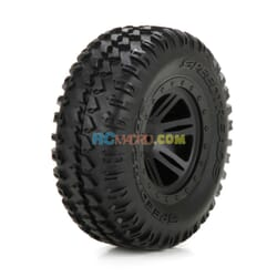 FR Tire Premount Black Wheel (2) 110 AMP DB