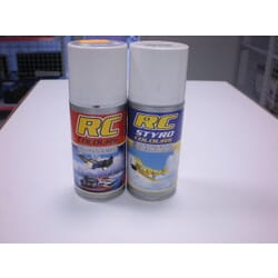Pintura RC STYRO Plata 150 ml