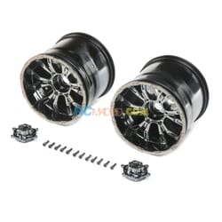 420S Force Wheel w/cap  Blk Chrome (2)  LST