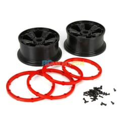 Wheel/Beadlock  Black (2)  1 5 4wd