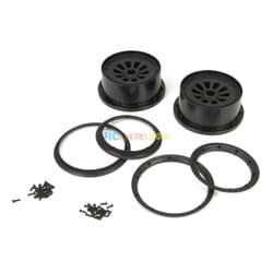 Wheel & Beadlock Set  Black (2)  5T