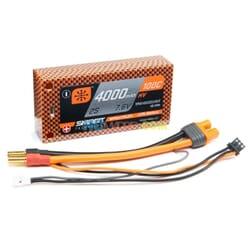 4000mAh 2S 7.6V 100C Smart HV LiPo Short 5mm Tubes