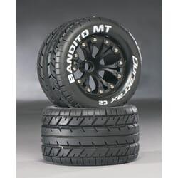 "Rueda Bandito MT 2.8"" Truck 1/10 Mntd 1/2"" Offset C2 Blk (2)"