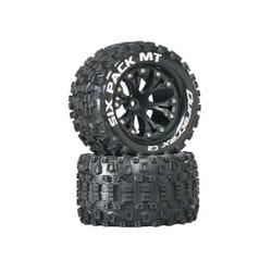 """Rueda Sixpack MT 2.8"""" Truck 1/10 Mntd 1/2"""" Offset C2 Blk (2)"""