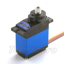 Servo Digital MG92B 13.8g / 3.1kg / .10sec metal con rodamientos