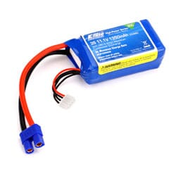 Bateria LiPo 1350mAh 3S 11.1V 30C, 13AWG EC3