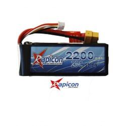 Lipo Rapicon 11.1V 2200mAh 3S 25C
