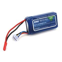 Bateria Li-Po 450mAh 3S 11.1V 30C 18AWG JST