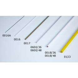 Tubo plastico transparente 4.9 x 3.9 x 915 mm