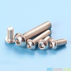 Tornillo Allen M4 x 12 mm INOX cabeza boton (10 unidades)